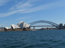 Opera house and Bridge from Ferry , Brian T - September 2011