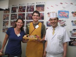 Photo of Tokyo Sushi Making and Tsukiji Fish Market Morning Tour from Tokyo Sensei and students