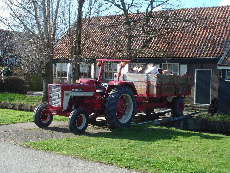 Tractor seen outside the Wooden Shoe Factory in Marken - Amsterdam