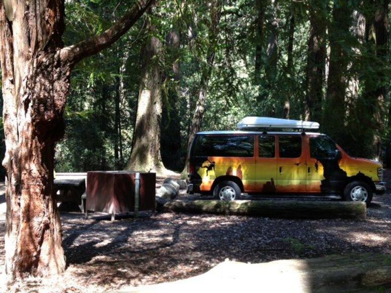 Van in the Woods.jpg - San Francisco