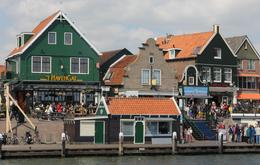 Arriving by boat at the busy town of Volendam where we saw the cheese making demonstration and had pancakes for lunch , Derek P - May 2013