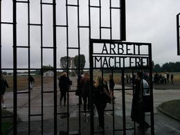 On the front entrance gates to Sachsenhausen is the infamous slogan Arbeit Macht Frei ( and quot;work makes (you) free and quot;). , Sunil K - October 2014