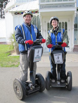The wife and I with incessant smiles ! We are now fans of segways and intend to ride them again on another holiday somewhere. , Peter J - July 2013