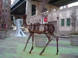 We came across this creature while walking around DUMBO. It seemed to be a sort of garden of modern sculptures., Robert R - April 2008