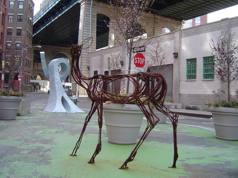 A Reindeer made of Construction Cable - New York City