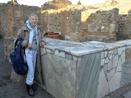 This is one of the old restaurants in Pompeii. This was one of the fast food restaurants in Pompeii. The streets are wide and you can just imagine hoards of people walking down restaurant row in the ...  - January 2008