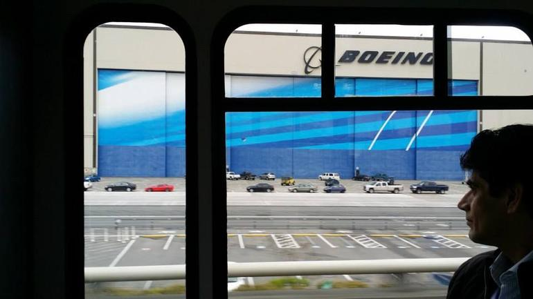Arriving at Boeing