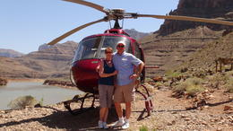 Photo of Las Vegas Ultimate Grand Canyon 4-in-1 Helicopter Tour At the base of the Colorado River.