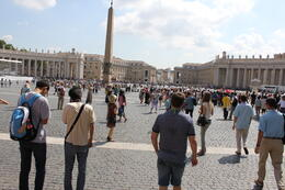 Photo of Rome Skip the Line: Vatican Museums Walking Tour including Sistine Chapel, Raphael's Rooms and St Peter's Avoid this line (seen at back end of photo) with this tour!