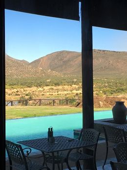 Watching the giraffes and elephants while eating breakfast was a treat! , Amberly M - October 2015