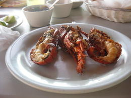 ENJOYING LOBSTER LUNCH IN PUERTO NUEVO ,MEXICO. , GILFREDO S - November 2014
