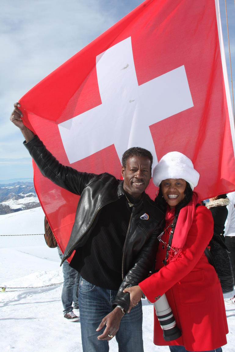 On top of Jungfrau Mountain in the Swiss Alps. - Lucerne
