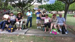 Received our certificates for completing the hike to top of Diamond Head. , Cheryl H - May 2015