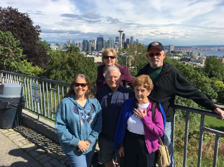Seattle view from Queen Anne, Kerry Park.