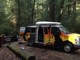 Photo of San Francisco Ultimate Road Trip: Campervan Rental from San Francisco Setting Up Campsite.jpg