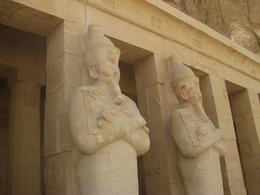 Photo of Luxor Private Tour: Luxor West Bank, Valley of the Kings and Hatshepsut Temple Statues of Hatshepsut