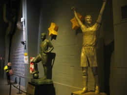 Statues inside the museum of some of the famous players., Bandit - June 2012