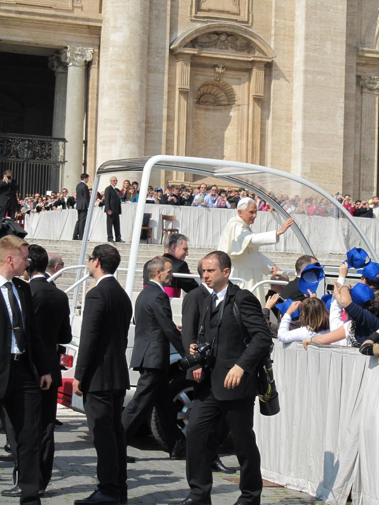 The Pope-mobile! - Rome