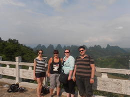 Photo of Hong Kong 3-Day Tour from Hong Kong to Yangshuo Including Victoria Peak, Chinese Cooking Class and Moon Hill Hike View point in Yangshuo