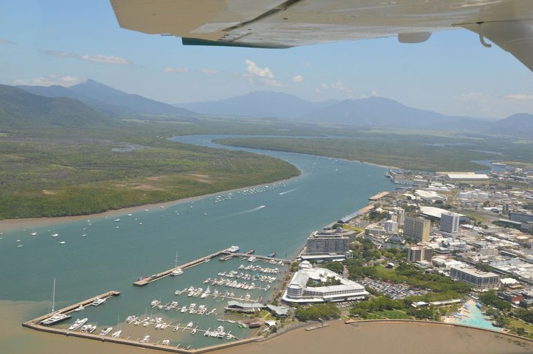 Cairns city from above