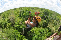 Photo of Cancun Cancun Extreme Zipline Canopy Tour Enjoying One of the Ziplines!