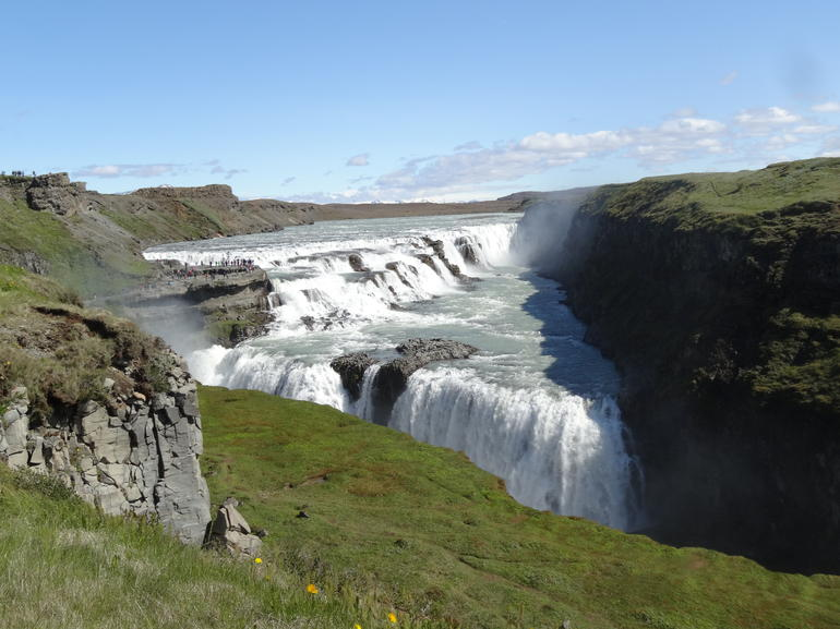 Iceland's Golden Falls were a highlight of the tour.