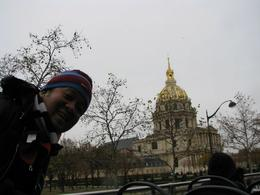 On top of the bus in front of the Invalides , Vic - December 2012