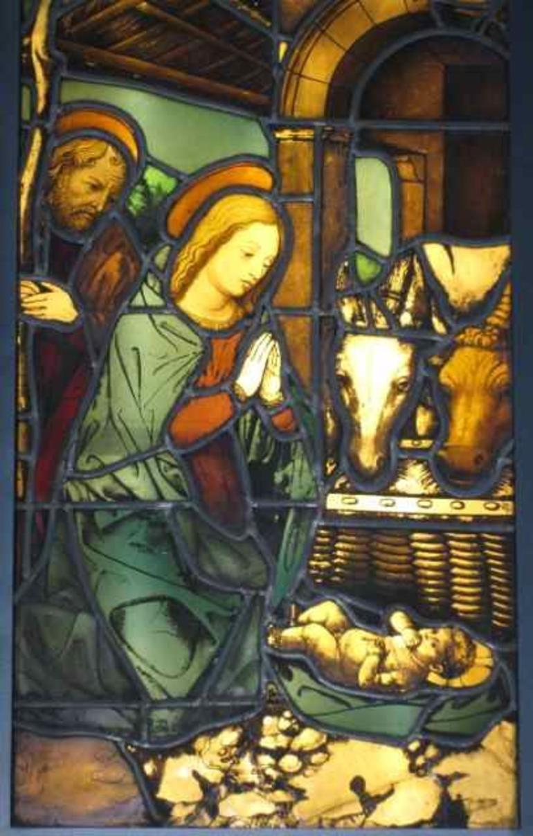 Milan Duomo - 15th C Nativity stained glass - Milan