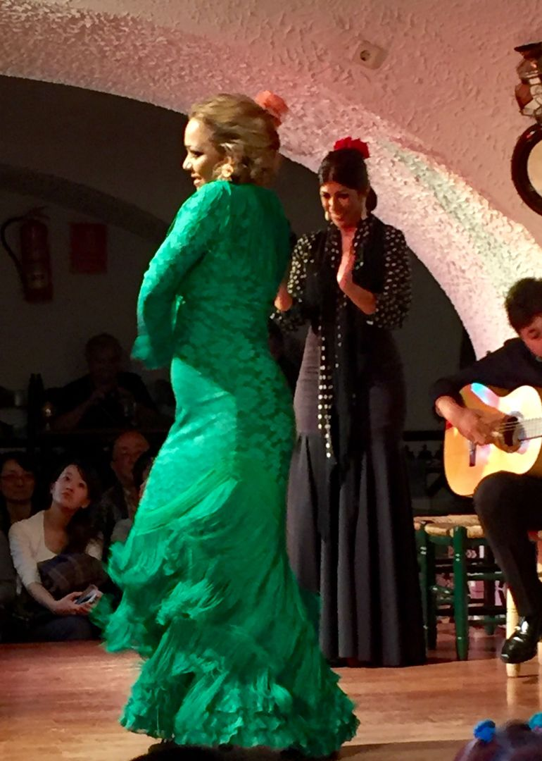 One of the amancing  Flamenco dancers at Tablao Cardobes