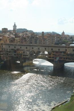 This is the view of the Ponte Vecchio Bridge from the Uffizi Gallery, Chip T - July 2009