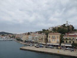 a view of the seaside town of Poros island in Greece , Joe A - July 2013