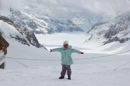 Photo of Lucerne Jungfraujoch Top of Europe Day Trip from Lucerne vue sur le glacier d'aletsch