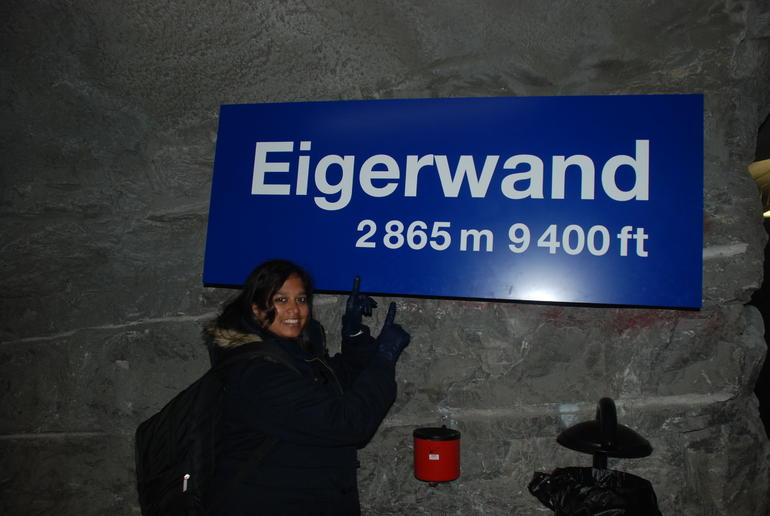 wooohoooo- we have reached Eiger - Zurich
