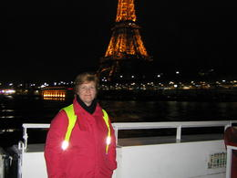 Photo of Paris Paris Night Bike Tour 046 On the Seine River with my viators group