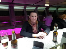 Relaxing beer at the top of the tower... very friendly barmen! , Michael T - April 2014