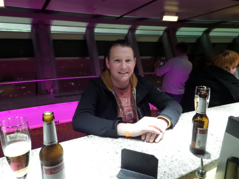 At the bar at the top of the TV Tower - Berlin