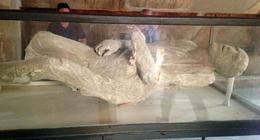 This is the body of a citizen of Pompeii during the eruption. , Anny H - September 2014