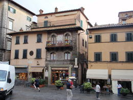 walking in the piazza in Cortona, enjoying and exploring , Tony O C - September 2012