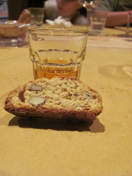 Biscotti and a dessert wine from the hostess - you did not leave hungry! , Kristina M P - July 2012
