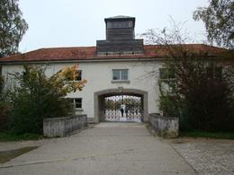 Photo of Munich Dachau Concentration Camp Memorial Small Group Tour from Munich Entrance gate to Dachau