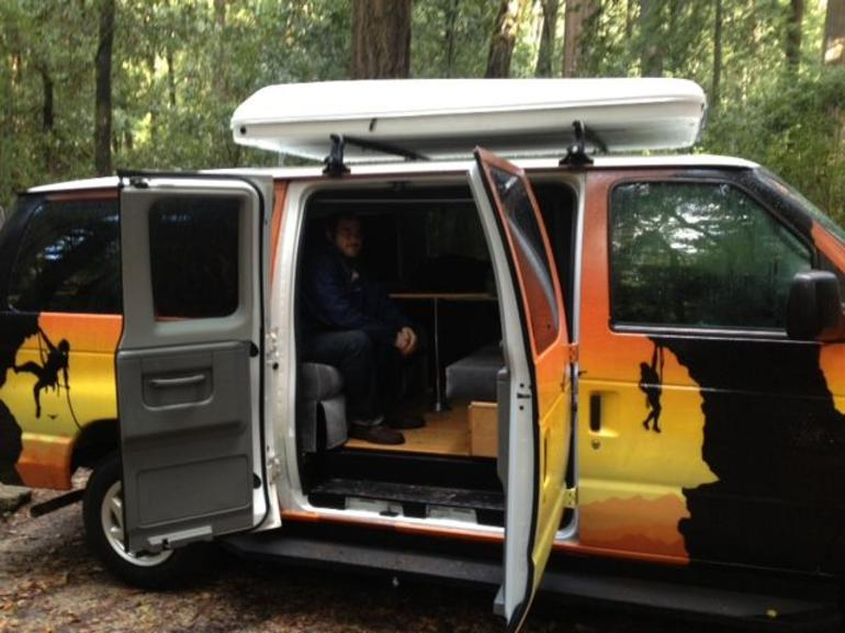 Happy Camper in Van.jpg - San Francisco