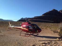 Photo of Las Vegas Grand Canyon All American Helicopter Tour Helicopter in the Canyon
