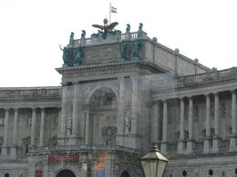 View of Hofburg Palace from the bus, Vienna - November 2011