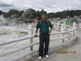Photo of Auckland Waitomo Caves and Rotorua Day Trip from Auckland I am cool even though behind me is hot