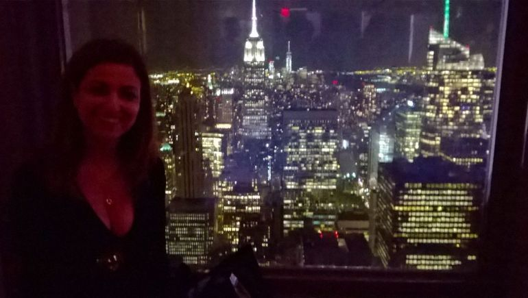 vue de NY la nuit sur l'empire state Building depuis le top of the rock