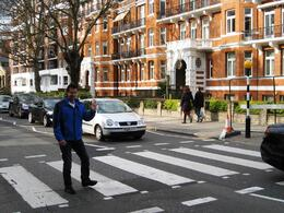 Crossing Abbey Road , PETER J R - April 2012