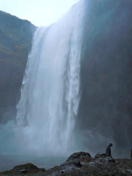 Skógafoss waterfall, KatieontheMap - December 2012