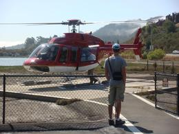 Safe landing after my first helicopter flight - great!! - August 2008