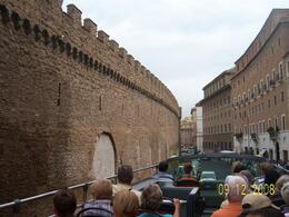 A view of the wall of an area part of Vatican., HONESTO G - September 2008