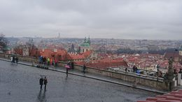 Visiting the castle in Praha, listening to the guide tour with a lot of information and seeing the city view from up high. , Sasiwimon B - April 2016